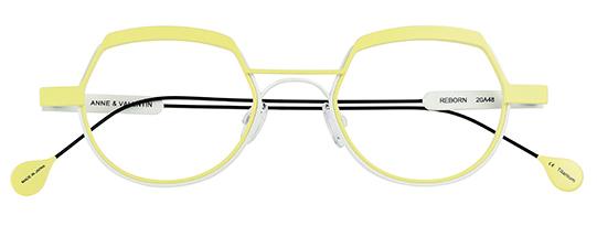Gafas de vista Anne et Valentin Modelo Reborn | Amarillo
