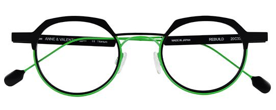 Gafas de vista color verde Modelo Rebuild | Anne et Valentin